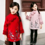 2019 Girls Dresses 2018 New Year Chinese Cheongsam Style Thick Warm New Year  Baby Girls Long Sleeve Princess Dresses For 2 8 Years From  Childrenboutique,