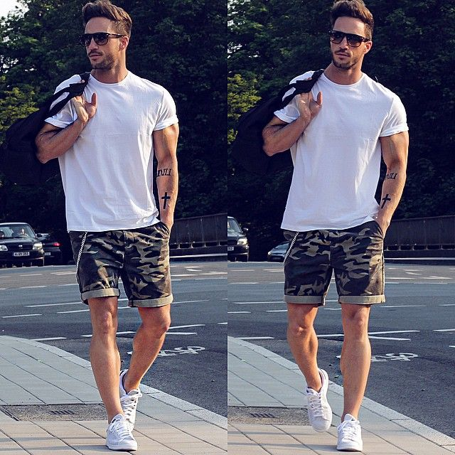 10 Ways To Wear Your T-shirt With Shorts | Men's Fashion Blog - PS