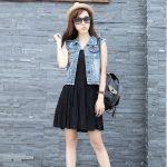 Plus Size New Fashion Summer Denim Vest Women Vintage Sleeveless Casual  Slim Jeans Vest Hole Short