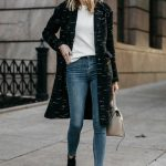 fashionjackson blogger coat sweater jeans shoes bag sunglasses jewels fall outfits  boots ankle boots black coat
