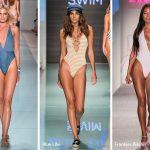 Spring/ Summer 2018 Swimwear Trends: Plunging-Neckline One-Piece Swimsuits