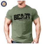 New Arrival Creative Art Design Beast t shirt for Men Summer short sleeve  cool shirts 100