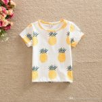 2019 Summer Girls Tops T Shirts Tee Pineapple Printed Shirts Pure Cotton  Casual Short Sleeve New 2017 Kids T Shirt Girl Boys Shirts A6180 From  Cherry_room,