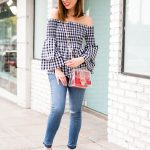 Sydne Style shows cute casual outfit ideas from jcpenney in gingham top and  jeans