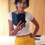 Yellow Skirt with White Top