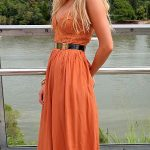 Voguish Burnt Orange Dresses