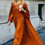 Voguish Burnt Orange Kleider | #Kleider
