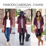 3 Ways to Wear a Maroon Cardigan | One Piece Many Ways | Pinterest | Maroon  cardigan, Cardigan outfits and Outfits