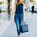 Sydne Summer gives tips on how to wear high waisted denim