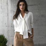 If you are just as sick of making a bow on your tie-neck blouse as I am,  this might help you to get further styling inspiration. I used to wear and