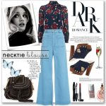 Awesome Ways To Wear Neck Tie Blouses 2019