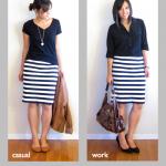 Ways To Wear Striped Skirt