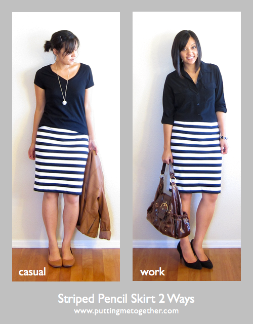 Ways To Wear Striped Skirt