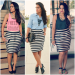 Three Ways To Wear A Striped Skirt