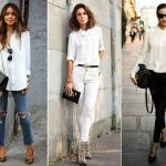 How To Wear An Oversized White Blouse 94