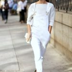 1 Le Fashion Blog 17 Ways To Wear White Overalls Hanneli Mustaparta Street  Style Via Popsugar