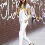 17 ways to wear white overalls // grey beanie, aviator sunglasses, grey tee  & black pumps #style #fashion #weworewhat