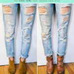 what shoes to wear with boyfriend jeans #booties #ankleboots