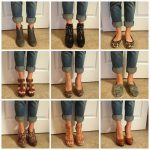 Boyfriend jeans pair well with any shoe! Same jeans, 9 different shoes.