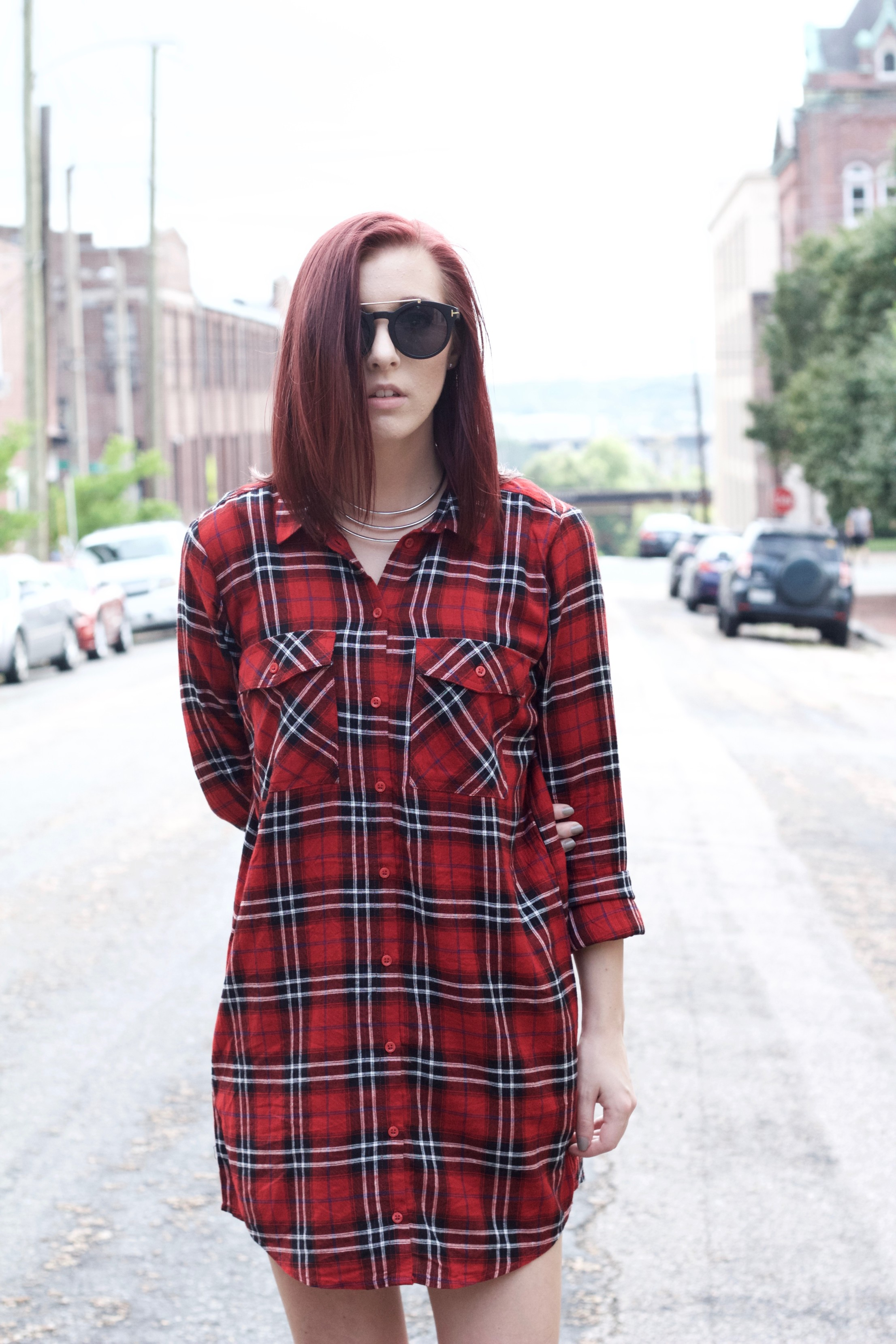 What To Wear With A Plaid Dress
