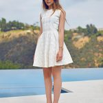 white eyelet dress with block heels