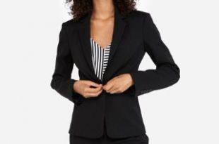 Express View · notch collar one button blazer