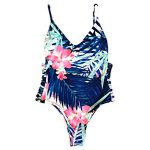 Chic-Dona Swimsuit Sexy Swimwear Women Summer Beach Wear Bathing Suit Sexy  Cut Out Floral