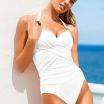 White One Piece Swimsuit for Womens Bathing Suit 2015 Juniors Bathing Suits