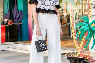 Sydne Style shares styling tips on how to wear white wide leg pants for  summer