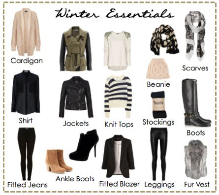 Winter Essentials Outfits For Women