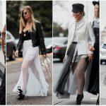 Sheer skirts