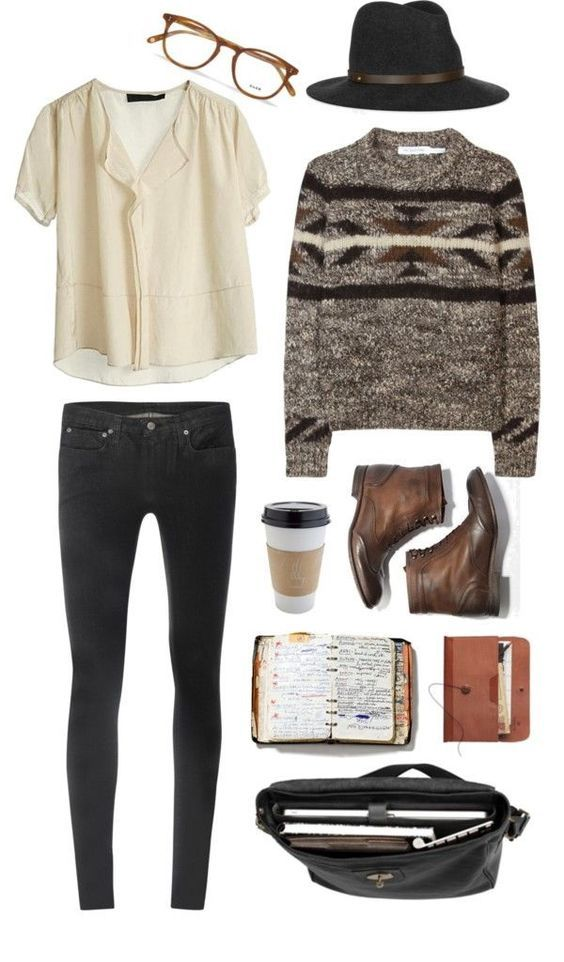Winter Hipster Outfits For Girls