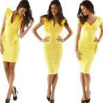Photos to yellow midi dress