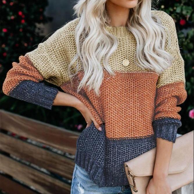 ⭐️⭐️⭐️⭐️⭐️Ruby Color Block Sweater