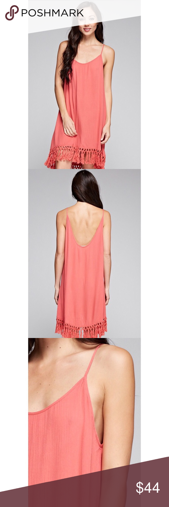 🆕 Best Of All Coral Fringe Dress The casually chic style of the Best of All C…
