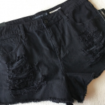 🆕 Hot Topic Distressed High Waist Black Shorts New with tags Hot Topic Distre...