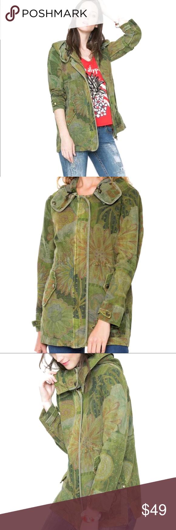 🌴Desigual Military Khaki Green Merci Jacket Desigual Khaki Green Merci Jacket…