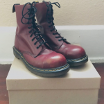 🍒 RARE! Vintage 90s Dr Martens combat boots Wonderful rare 90's cherry red le...