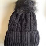🎁 Black Pom Pom  Rhinestone winter beanie Brand new with tags . Embellished w...