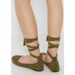 💥COMING SOON💥 Olive Lace-Up Ballet Flat Glamourous and feminine, this pret...