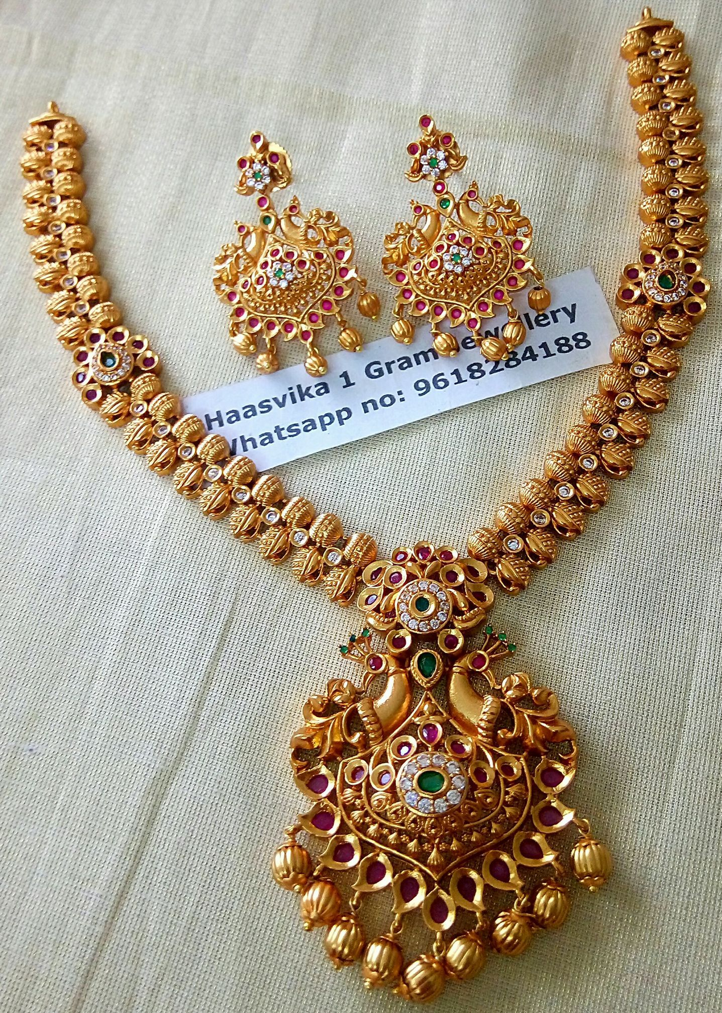 1 gram gold jewellery wholesale. Contact : Whats app on 9618284188.