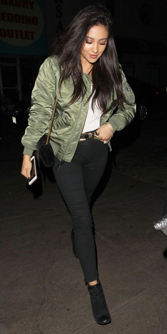 10 Celebrities Prove the Army Green Bomber Jacket Is the Season's New Must-Have