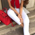 112 Women's White Sneakers Outfit Idea