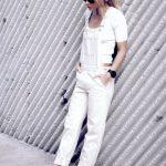 12 Le Fashion Blog 17 Ways To Wear White Overalls Cropped White Tee Adidas Sneak...
