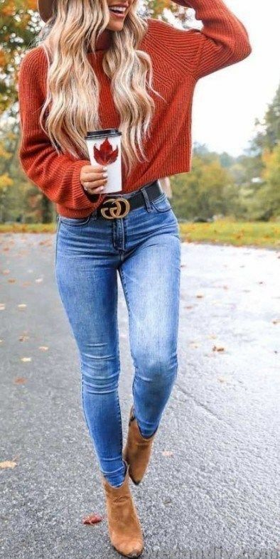 15 Cute Fall Outfits with Sweaters #outfitideas #fashionista #mystyle #outfitins…