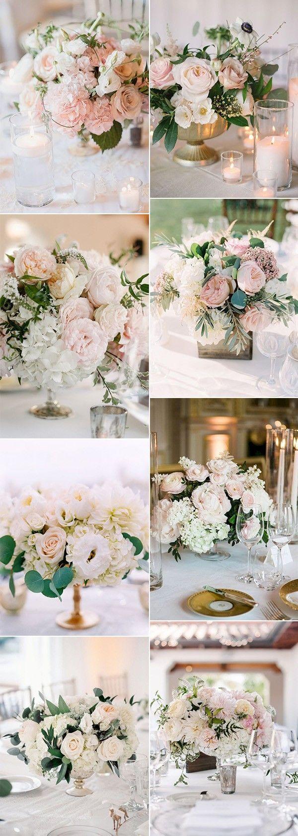 15 Elegant Blush Pink Wedding Centerpieces for 2019