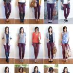 15 Ways to Wear Burgundy or Maroon Pants