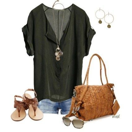 150 pretty casual shorts summer outfit combinations (123)