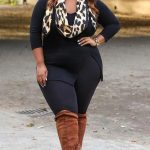 19 stylish ways to wear a plus size leggings outfit #plussize #outfit #leggings ...