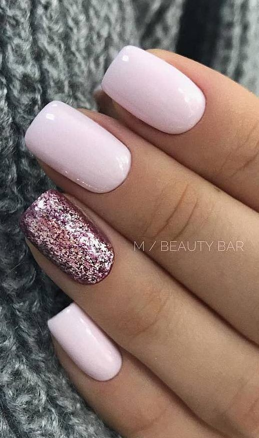 40+ Cute and Beautiful Glitter Nail Designs Ideas For Summer – Page 19 of 40